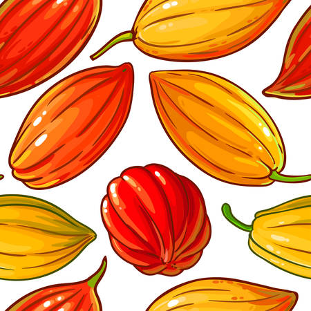 cocoa vector pattern on white background Ilustrace