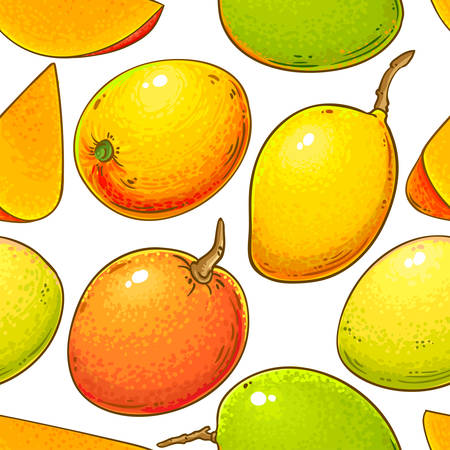 mango vector pattern Иллюстрация