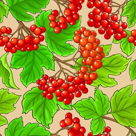 guelder rose vector pattern on color background