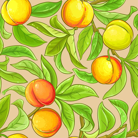peach vector pattern on color background Ilustrace