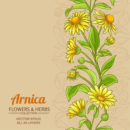 arnica vector pattern on color background Illustration
