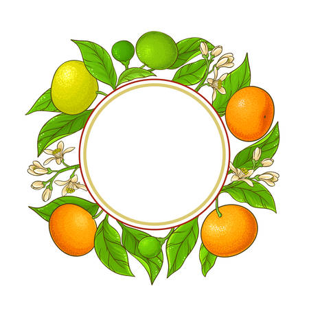 tangerine ranches vector frame on white background