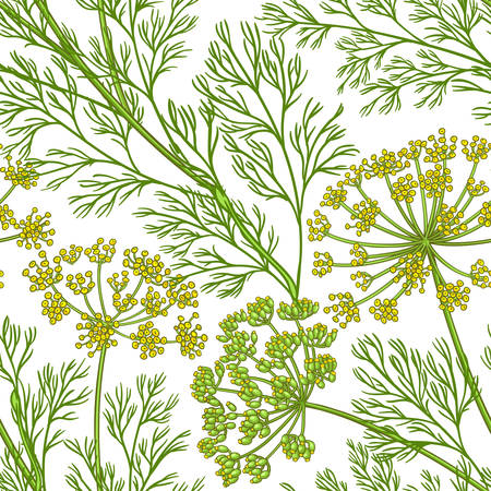 dill vector pattern on white background
