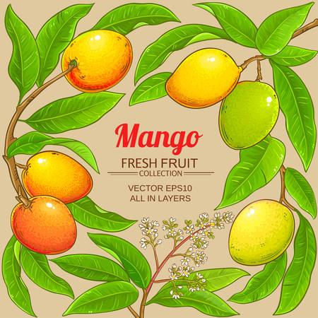 mango vector frame