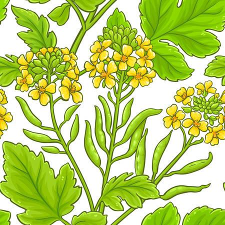 mustard vector pattern on white background