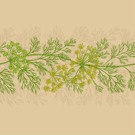 dill vector pattern on color background