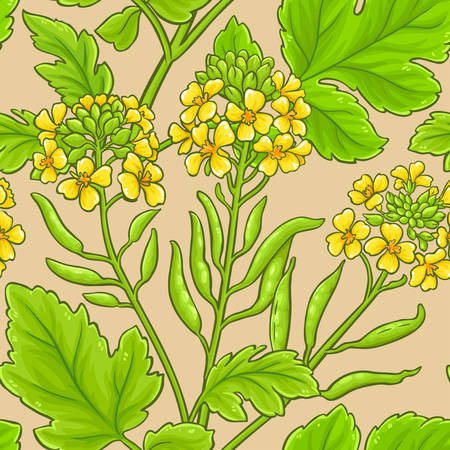 mustard vector pattern on white background