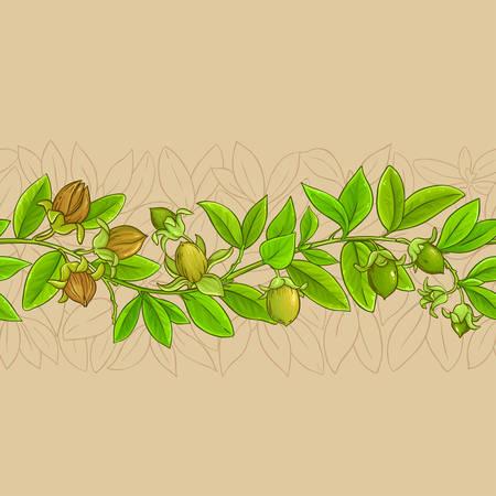 jojoba vector pattern on color background Ilustrace