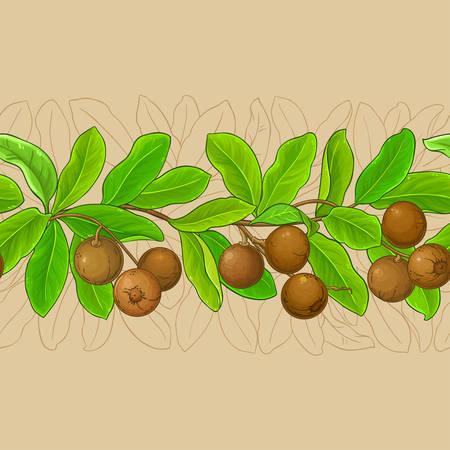 brazil nut pattern on color background Illustration
