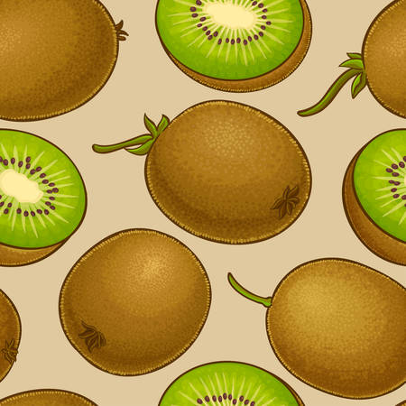 kiwi vector pattern illustration