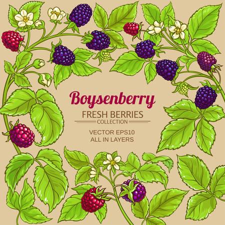 boysenberry vector frame