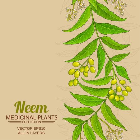 neem vector background Ilustração