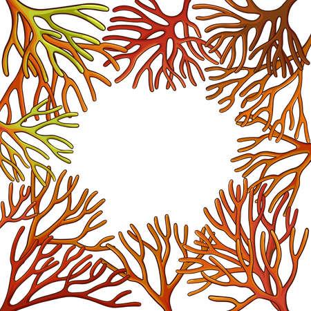 sea moss frame Vektorgrafik