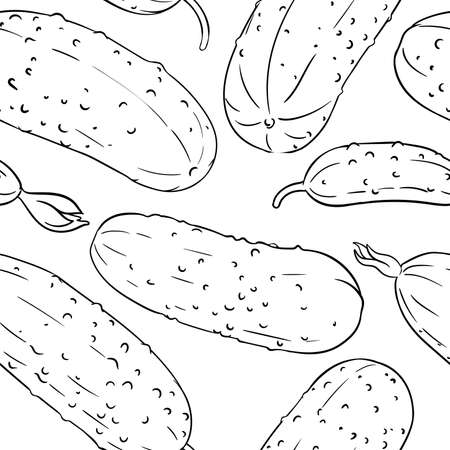 cucumber vector pattern
