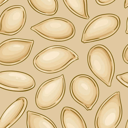 pumpkin seeds vector pattern