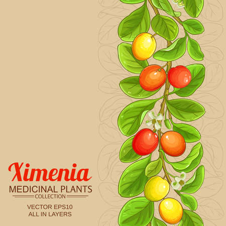 ximenia vector background