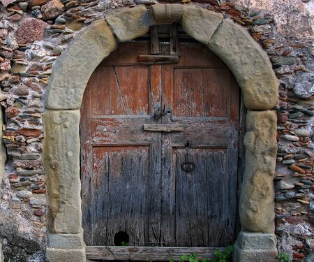 old wooden door: Old, wooden door. Stock Photo