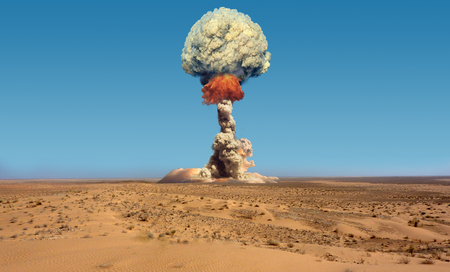 explosion: Nuclear explosion.