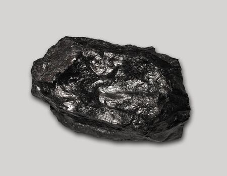 Coal on gray background.