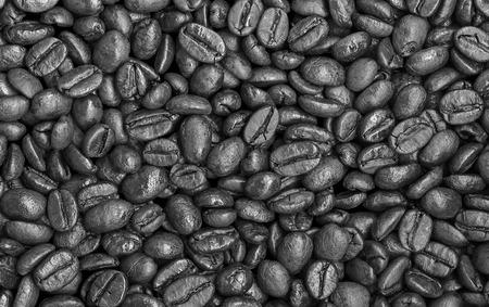 Burnt coffee beans.