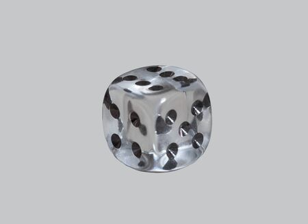 Glass dice game on isolated background Stock Photo