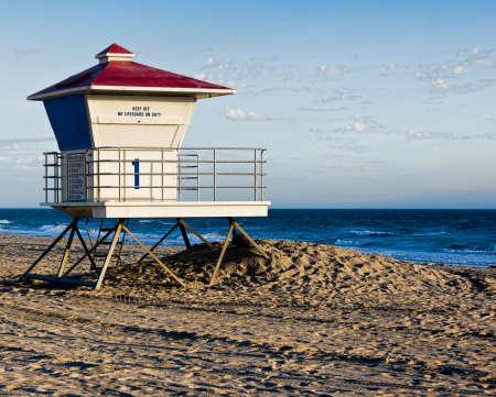 Huntington Beach Lifeguard Tower #1 Stock Photo - 11389849