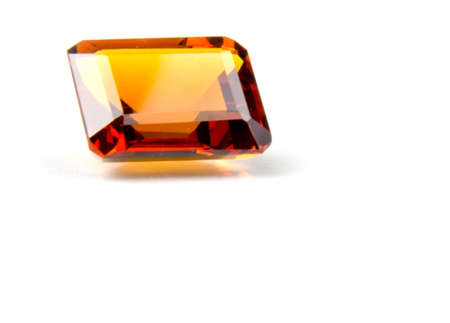 Emerald Cut Madeira Citrine Faceted Gemstone