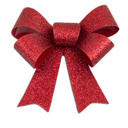 Rouge paillettes de Noël arc présente Banque d'images - 13207095