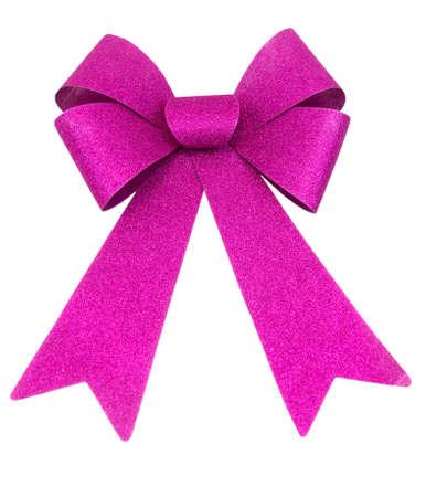 december 25th: Purple glitter Christmas bow