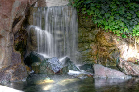 Scenic hdr waterfall landscape Stock Photo