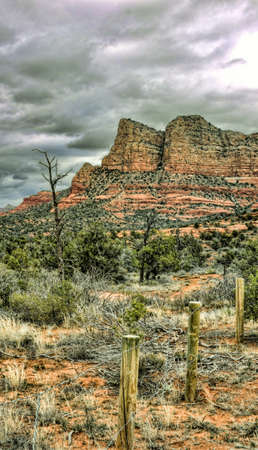 Scenic HDR landscape red rock mountains Sedona, Arizona photo