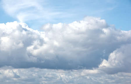 puffy: Puffy summer clouds background image