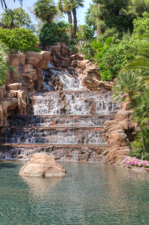 Waterfall at the Mirage Hotel in Las Vegas, Nevada