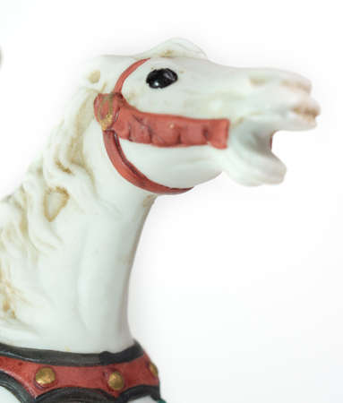 minature: Minature Carousel Horse on white background