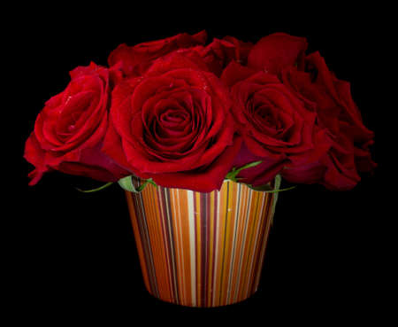 Bouquet of beautiful red roses on black background 版權商用圖片 - 13947023