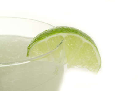 Delicious frozen blended Mexican margarita with lime Stock Photo