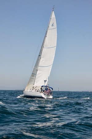 Sailboat at Long Beach Harbor Editorial