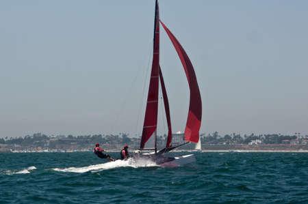 Sailboat at Long Beach Harbor Editöryel