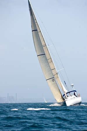 Sailboat underway