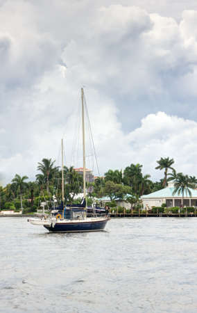 Waterfront homes and yachts at Fort Lauderdale, Florida photo