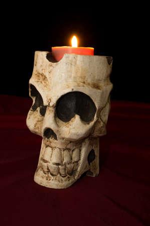 flickering: D�a de los Muertos Dia de los Muertos cr�neo con el parpadeo vela encendida