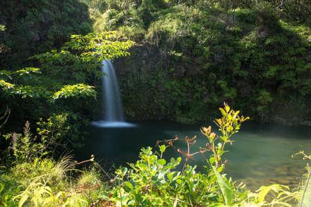 Waterfall  on the Road to Hana on the beautiful Hawaiian Island of Maui