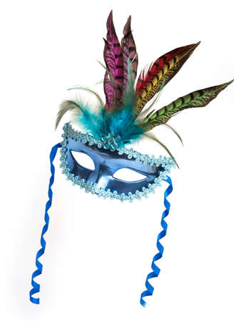 Colorful Mardi Gras mask. Isolated on white background