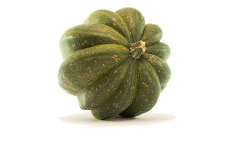 Studio close up of acorn squash isolated on white background with light shadow Stock Photo