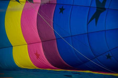Colorful abstract hot air balloons