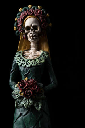 Catrina Calavera known as the Elegant Skull Dia de los Muertos (Day of the Dead) celebration