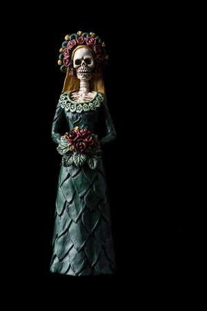 Catrina Calavera known as the Elegant Skull Dia de los Muertos (Day of the Dead) celebration