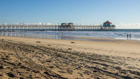 Huntington Beach Pier and coastline photo