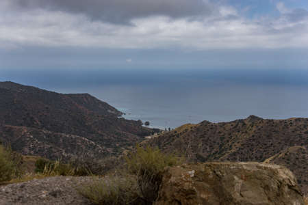 conservatory: Scenic view of the coast of Santa Catalina Island located off the coast of Southern California