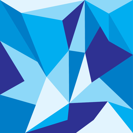 Abstract blue polygon walpaper